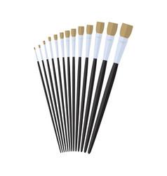 Flat artist paint brush stationary flat design vector