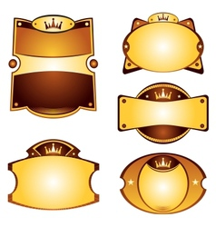 Gold labels set vector image