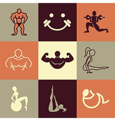 Gym logo icons vector