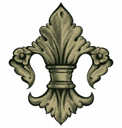 Heraldry lily vector