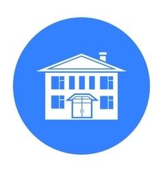 House icon black single building icon from the vector