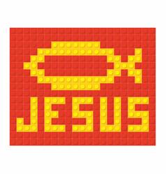 jesus fish vector image vector image