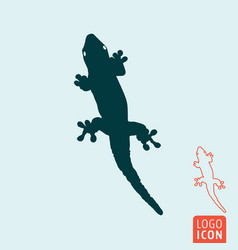 lizard icon isolated vector image