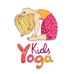 Logo for children yoga vector