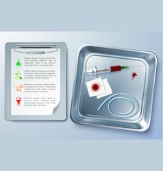 Medical instrument background vector