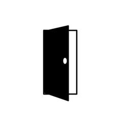 opened door icon vector image vector image