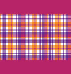 Pink orange plaid madras seamless pattern vector