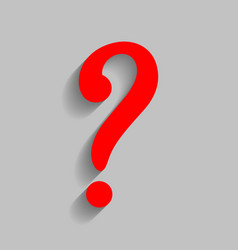 Question mark sign red icon with soft vector
