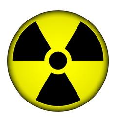 Radiation warning symbol button vector