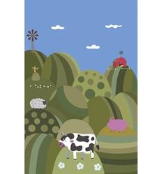 Rural vector image vector image