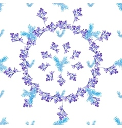 Seamless floral Blue circle pattern vector image