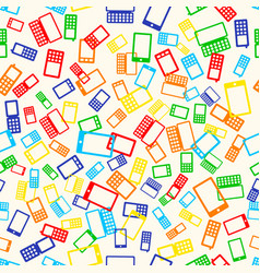 seamless pattern phone vector image vector image