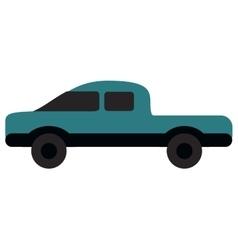 Single truck icon vector