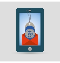 Smartphone off sale online tag price vector