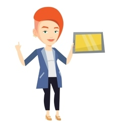 Student using tablet computer vector