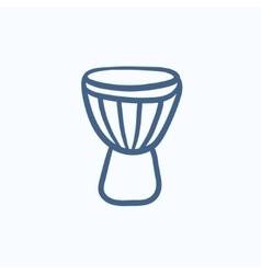 Timpani sketch icon vector image vector image