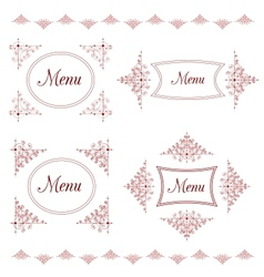 Vintage background for menu with tracery elements vector image