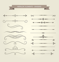 Vintage book vignettes dividers and separators se vector