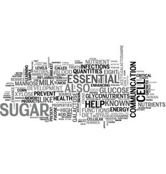 What are the eight essential glyconutrients and vector