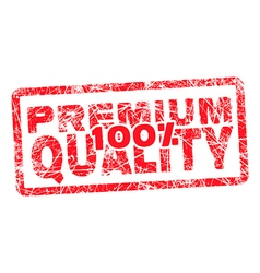 100 premium quality grungy and scratched red stamp vector image