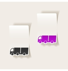Realistic design element truck vector