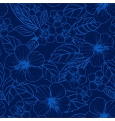 Tropical seamless pattern with exotic plants and vector