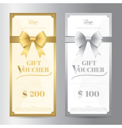 Elegant portrait gift voucher or gift card vector