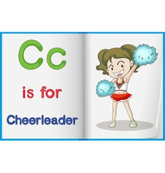 Cheerleader and a book vector