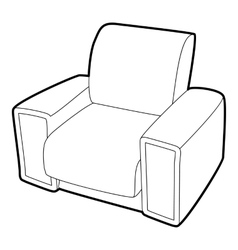 Armchair icon isometric 3d style vector