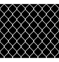 Wired steel fence seamless pattern overlay vector