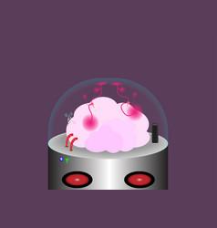 Brain robot vector