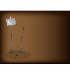 Music microphone stand background vector