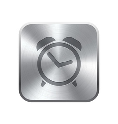 Alarm Clock icon button vector image