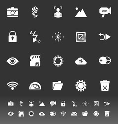 Photography sign icons on gray background vector