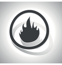 Curved fire sign icon vector