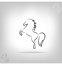 Image of a horse vector