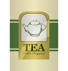 Tea time design vector