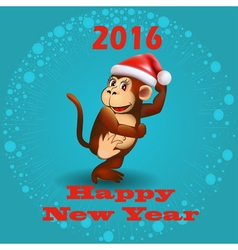 Holiday card with a dancing monkey vector