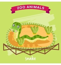 Zoo animal snake vector