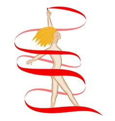 Naked girl blonde vector
