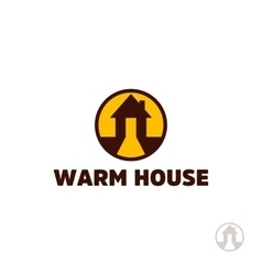 Warm house logo real estate logo house logo vector