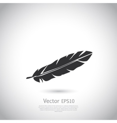 Feather icon or logo vector