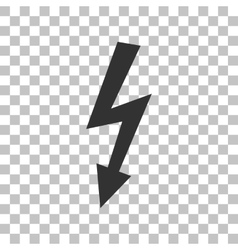 High voltage danger sign dark gray icon on vector