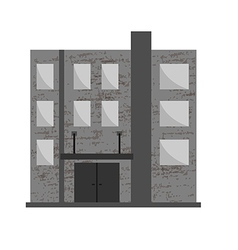Abandoned building vector