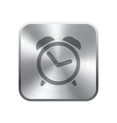 Alarm clock icon button vector