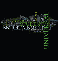 are you a fan of universal theme parks text vector image vector image