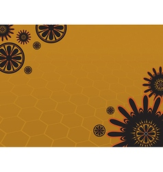 Background flower 3 yellow vector