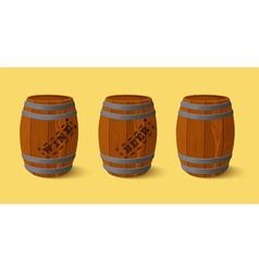 Barrel Wooden keg for wine or beer vector image vector image