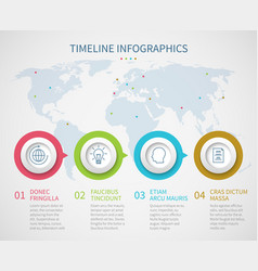 business chart timeline with process steps vector image