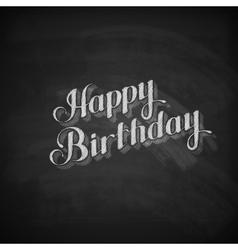 Chalk of happy birthday emblem vector
